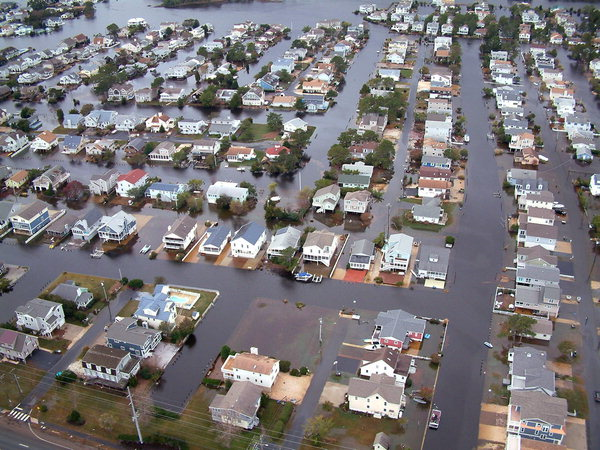 Aerial view of flooding on Fenwick Island, Delaware, after Hurricane Sandy. Photo: AP