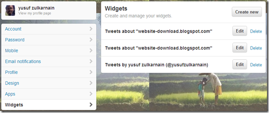 Widgets-twitter-blog-website-design
