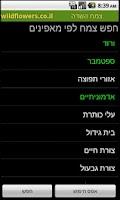 Screenshot of מגדיר פרחים וצמחי הבר צמח השדה