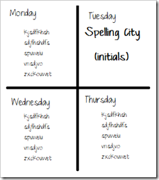 Spelling city example