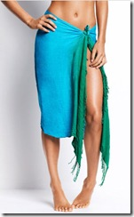 Blue and green sarong