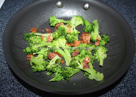 broccoli n bacon omelet