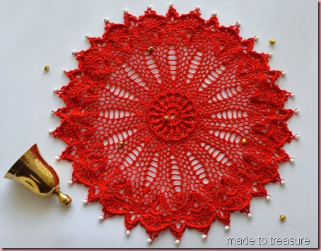 red ultimate doilies