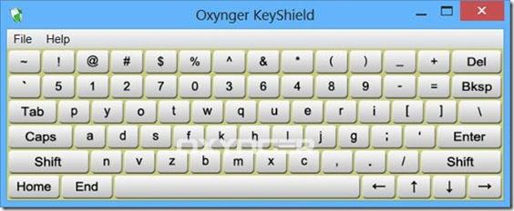 Oxynger KeyShield tastiera virtuale anti keylogger