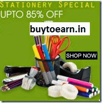 Flipkart : Buy Stationery Sale Flat 70% off from Rs.36