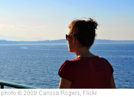 'Woman looking at water and horizon' photo (c) 2009, Carissa Rogers - license: http://creativecommons.org/licenses/by/2.0/