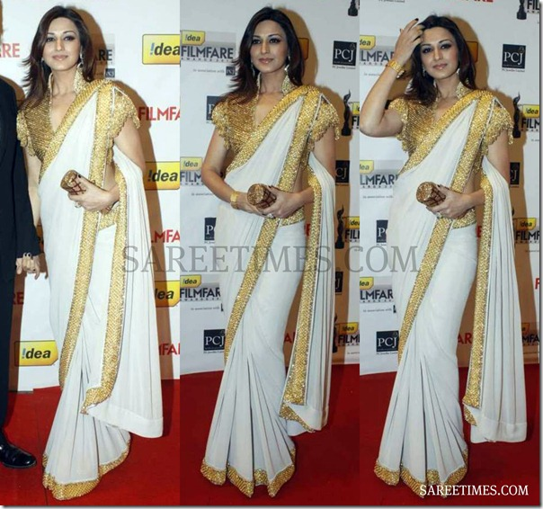 Sonali_Bendre_White_Saree
