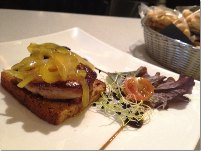 grilled duck liver