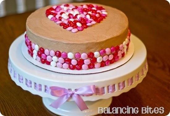 Valentine Heart Chocolate Cake - Balancing Bites