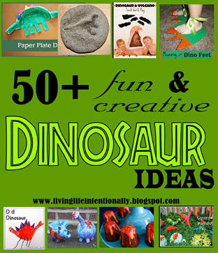 Over 50 creative ways to play,  craft, and learn about dinosaurs