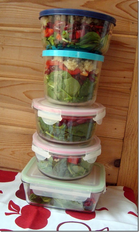 prepped lunches