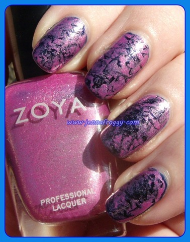Zoya Rory Saran Wrap over Barry M Navy