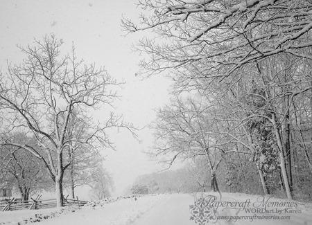 Gettysburg Snow 2--2-14 www.papercraftmemories.com