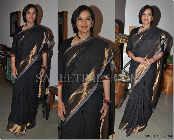 Shabana_Azmi_Black_Saree
