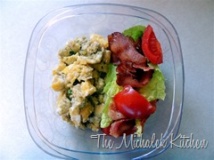 Hubbys Takeout BLT and Scrambled Eggs