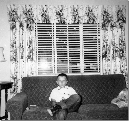 John Flora, shortly after moving to 917 E. Columbia St. in the spring of 1954.