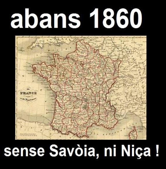 Mapa de l'Estat francés abans 1860