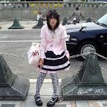 Lolita girl on Jingu bridge in Harajuku in Harajuku, Tokyo, Japan