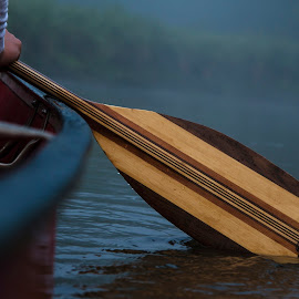 The First Use by Jamie Cooper - Sports & Fitness Watersports ( peaceful, waterscape, canoe, morning, paddle )