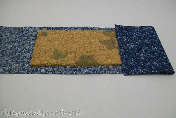 covering cork board with fabric