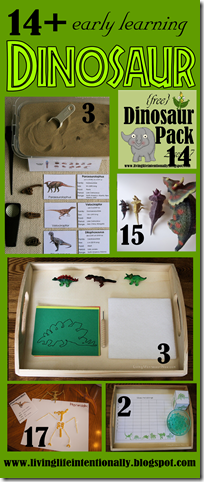 dinosaur early learning ideas and cards