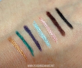Mally Starlight Liners in Golden, Caribbean Sea, Deep Violet, Ice Blue, Pink Champagne, Espresso and Midnight
