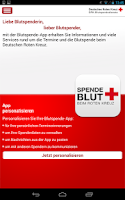 Screenshot of Blutspende beim DRK