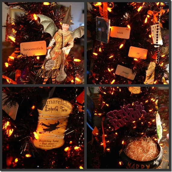 Halloween Tree collage