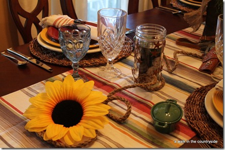 western cowboy themed tablescape