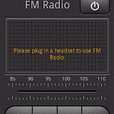 The FM Radio has a nice interface but will not run without a headset since it uses that as an antenna