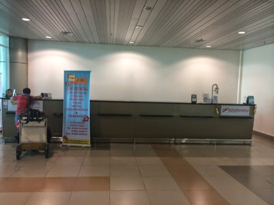 Car rental desk - Car hire at Sibu, Airport