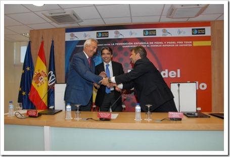 Pádel Pro Tour y la Federación Española de Pádel firman en el CSD de Madrid un acuerdo histórico para el futuro del pádel 2011