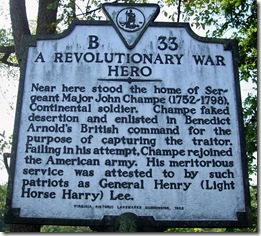 A Revolutionary War Hero Marker B-33 Loudoun Co. VA