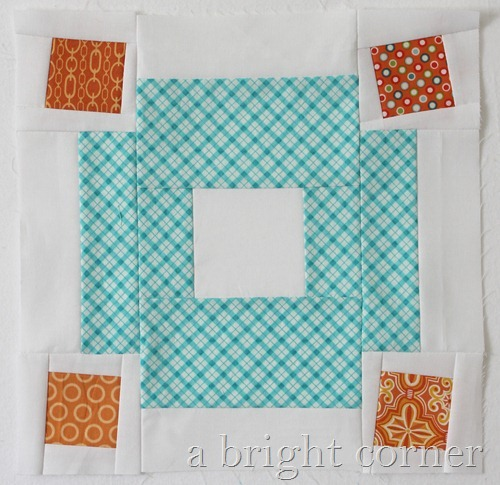 Jumble quilt block tutorial by Andy of A Bright Corner