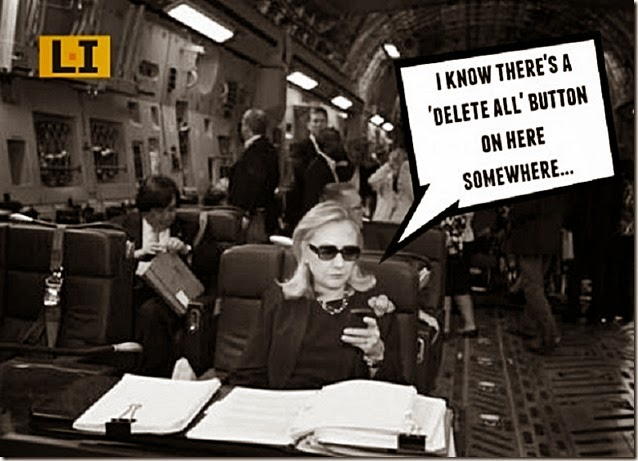 Clinton on a C-17, with blackberry in hand