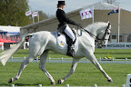Louisa Milne Home on King Eider during dressage at the Badminton Horse Trials 2013