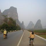 Yangshuo - Mont karstiques depuis la route