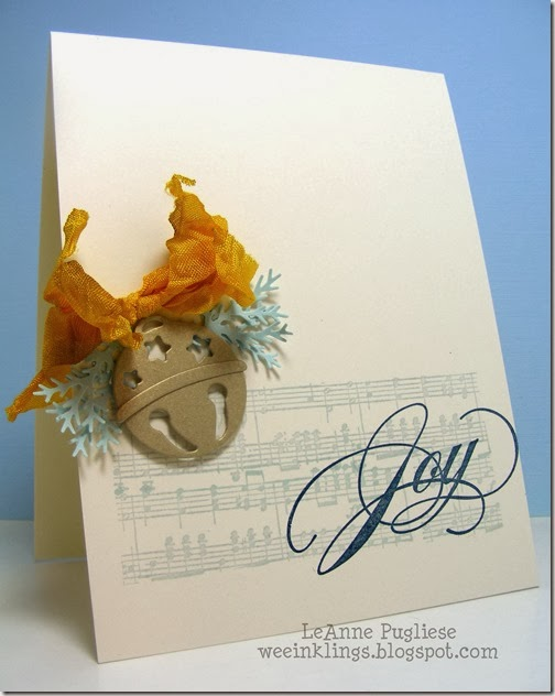 LeAnne Pugliese WeeInklings Joy & Bell Christmas Card
