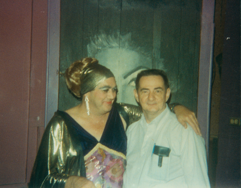 Edgar Sandifer at drag queen event. 1988.