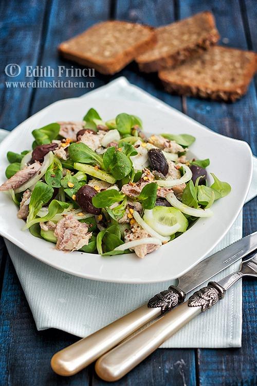 Salata cu sardine si masline