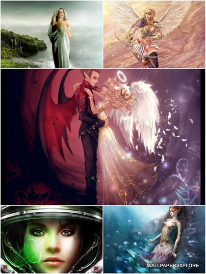 30 Sexy Fantasy Mythical Girls 3D Wallpapers { SET 17 }