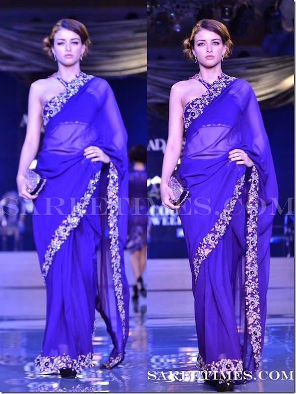 Adarsh_Gill_Blue_Saree