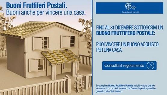 vinci una casa buoni postali