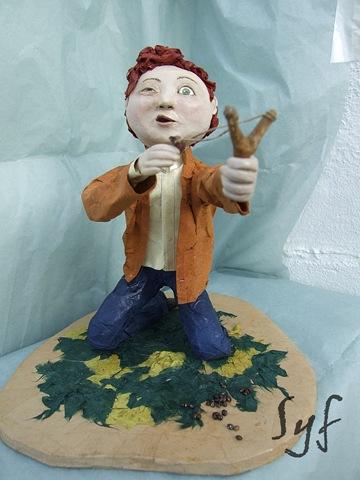 muñeco papel mache 14