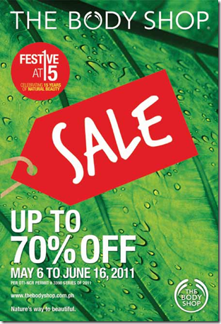 The Body Shop Festive at 15 SALE
