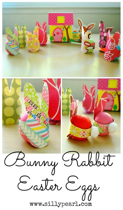 Dress up Easter Eggs or Egg-Shaped Lip Balms with these quick-to-make Easter Bunnies.