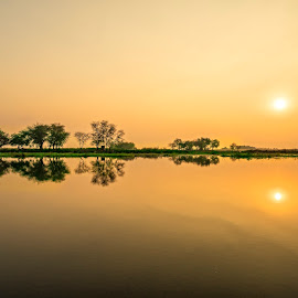 Sunset at Udon by Crispin Lee - Landscapes Travel