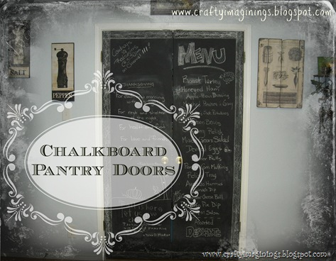 Pantry Doors with Text