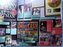 9476 Nashville, Tennessee - Discover Nashville Tour - Ryman Auditorium - Johnny Cash & June Carter display