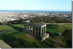 National Monument and northeast of Edinburgh
